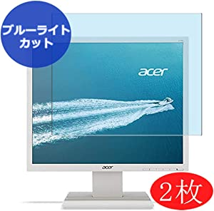 """【2 Pack】 Synvy Anti Blue Light Screen Protector for Acer V196L / UM.CV6EE.B05 19"""" Display Monitor Anti Glare Screen Film Protective Protectors [Not Tempered Glass]"""