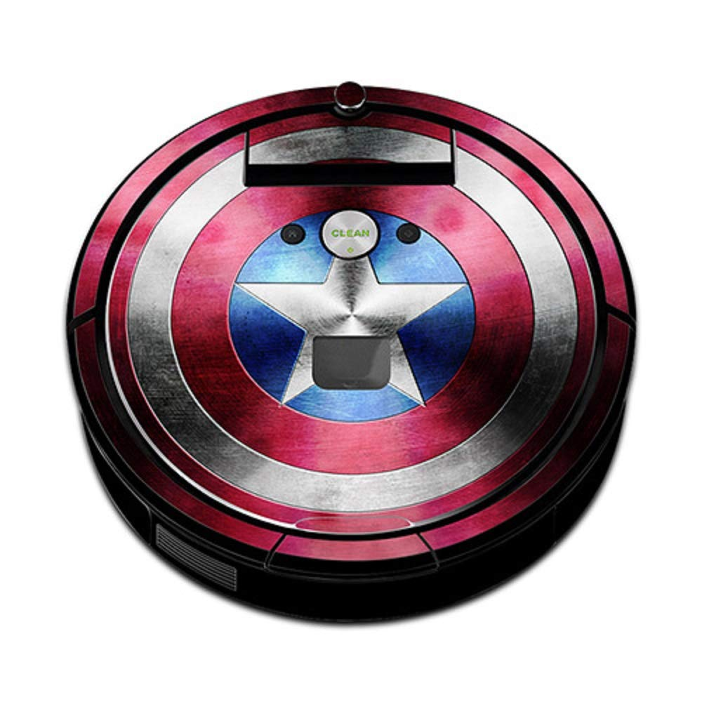 Wazonton Vacuum Cleaner Covers for Irobot Roomba 960, Screen Sticker 3D Removable Decal for Irobot Roomba 960 Accessories (Style A)