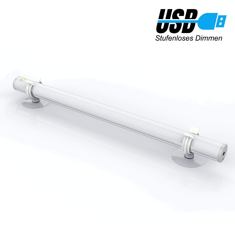LED Spiegelleuchte Schminklicht,ElectriBrite,dimmbar Spiegellampe Tageslicht, Sucker Lampe,saugnapf leuchte,Portable Make Up Licht Bilderlampe, Über USB, Keine Batterie, Weiß Über USB Weiß
