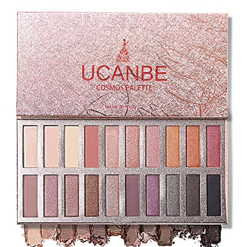 Ucanbe Pro Eyeshadow Palette Makeup, Highly Pigmented Matte Shimmer Neutral Smoky Nudes Warm Eye shadows Cosmetic (Naked) ()