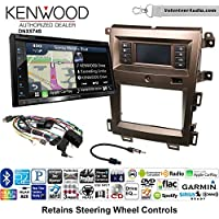 Volunteer Audio Kenwood DNX574S Double Din Radio Install Kit with GPS Navigation Apple CarPlay Android Auto Fits 2011-2014 Edge (Bronze)