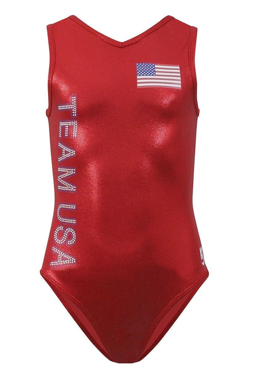 amazon com k bee leotards u0027s team usa red gymnastics leotard