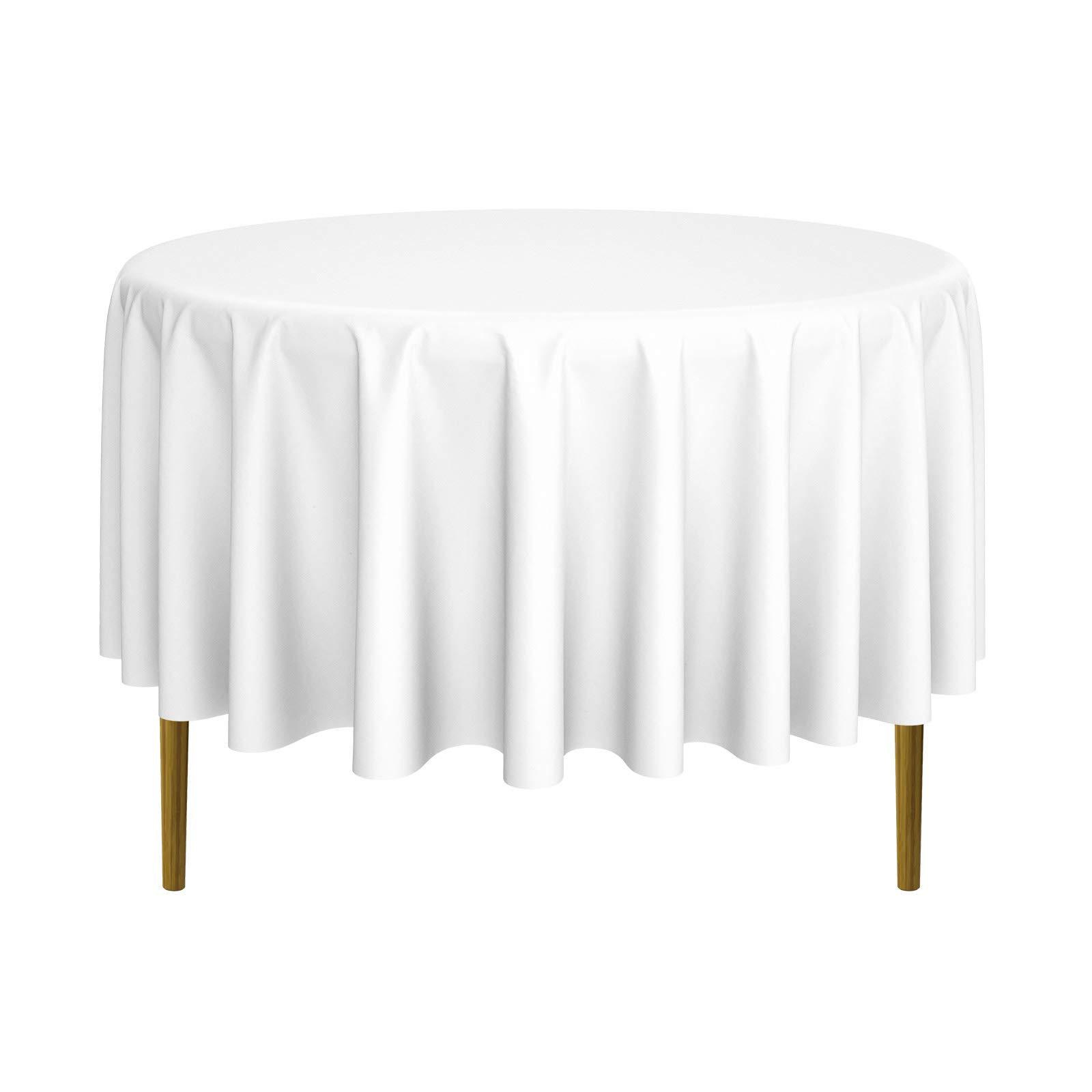 Lann's Linens - 20 Premium 90'' Round Tablecloths for Wedding/Banquet/Restaurant - Polyester Fabric Table Cloths - White