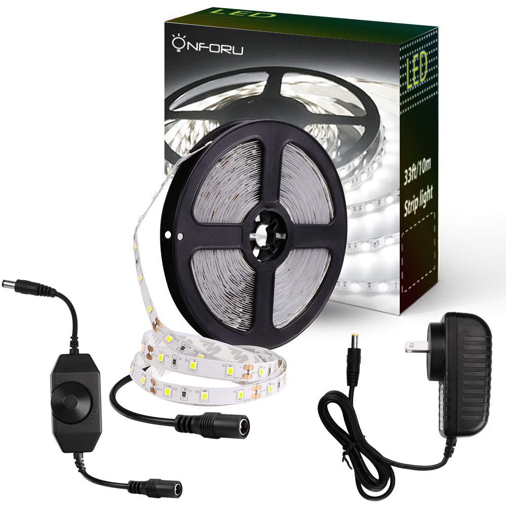Onforu 33ft dimmable led strip lights kit 600 units smd 2835 leds onforu 33ft dimmable led strip lights kit 600 units smd 2835 leds 12v under cabinet lighting aloadofball Images