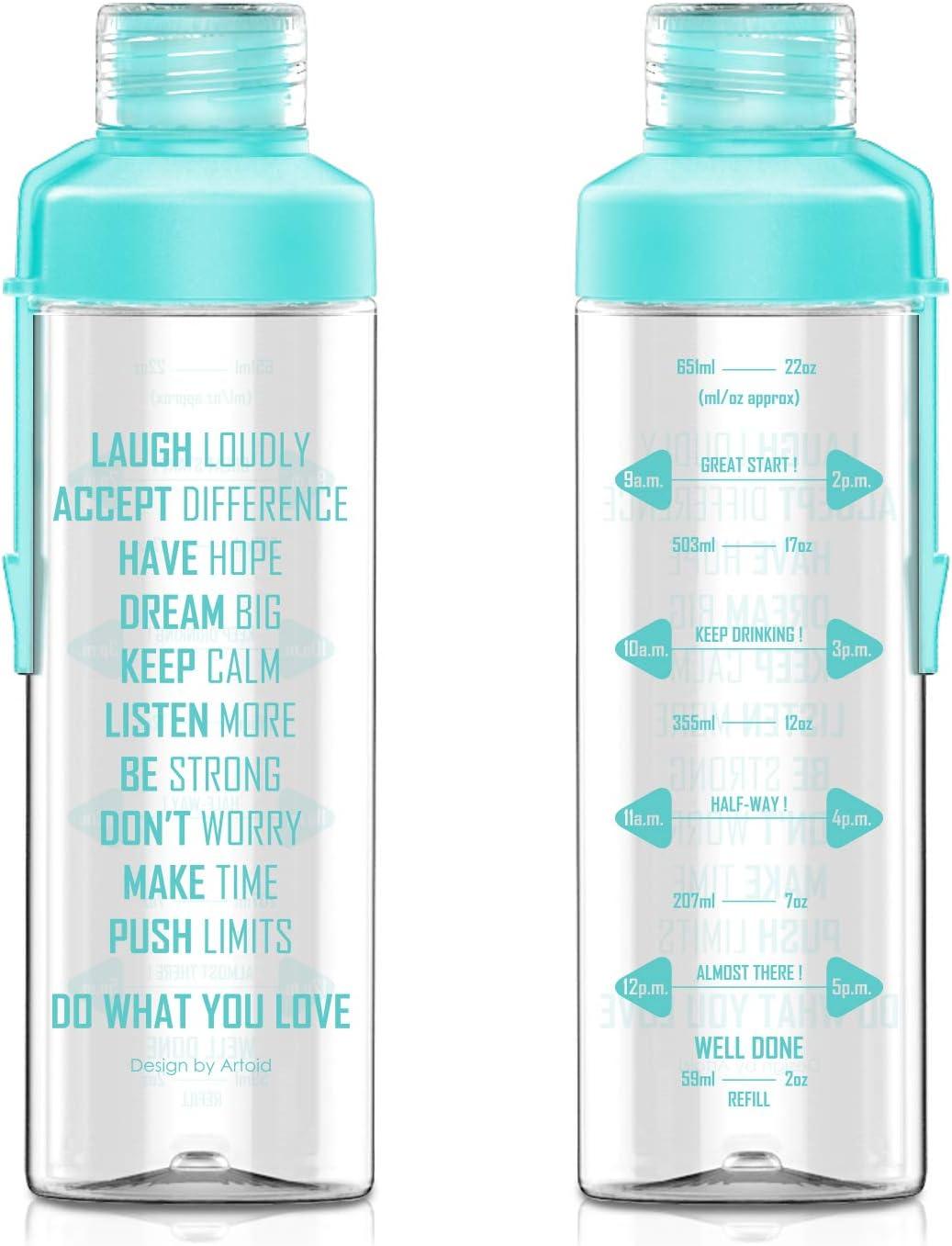 Amazon.com: Artoid Mode - Botella de agua con marcador de ...