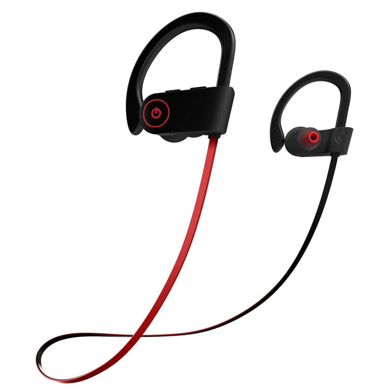 Bluetooth Headphones, Otium Best Wireless Sports Earphones w/Mic IPX7 Waterproof HD Stereo Sweatproof In Ear Earbuds for Gym Running Workout 8 Hour Battery Noise Cancelling Headsets