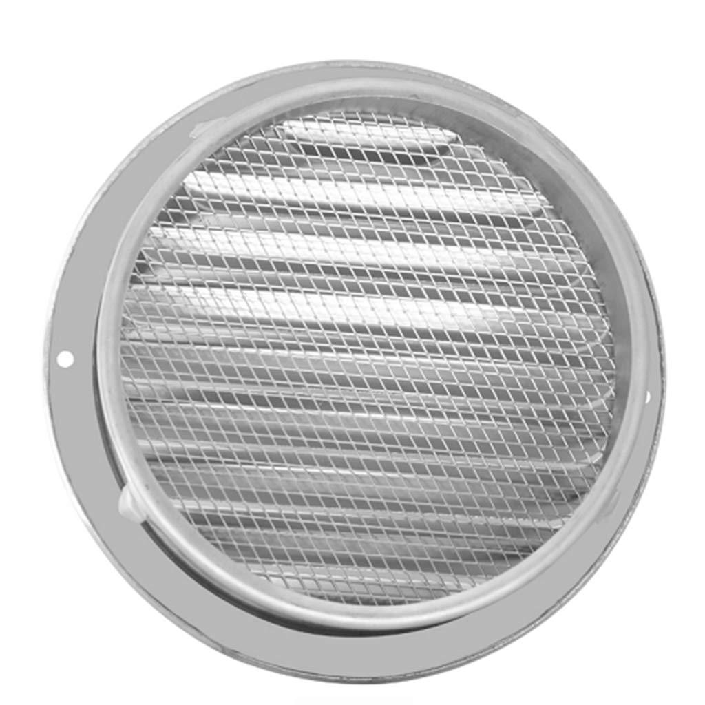 Rtengtunn Rejilla de ventilaci/ón de Aire Exterior de Pared de Acero Inoxidable Rejillas de ventilaci/ón de conductos Redondos 70mm