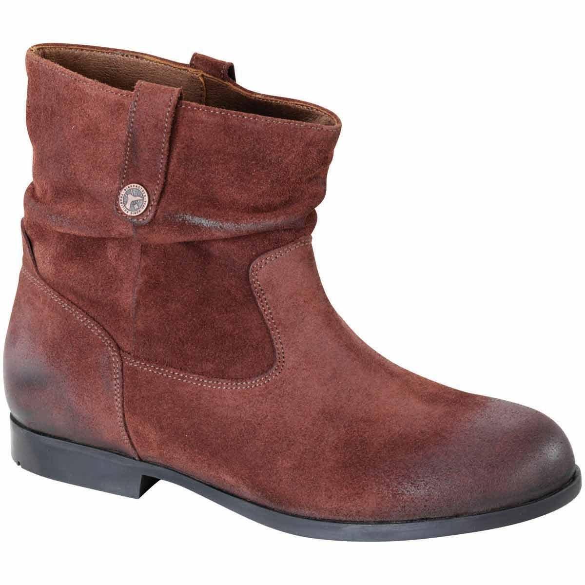 Birkenstock Women's Sarnia Boot Espresso Waxed Suede Size 41 M EU