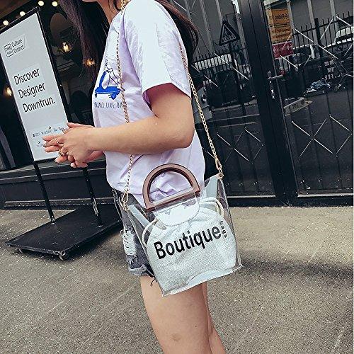 Women's Brown Black Bags PVC Shoulder Bags Buttons GMYANDJB Bag Shoulder Gray Purple qfZBEOPxwt