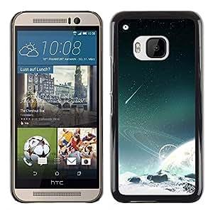 Dispara sobre una estrella - Metal de aluminio y de plástico duro Caja del teléfono - Negro - HTC One M9