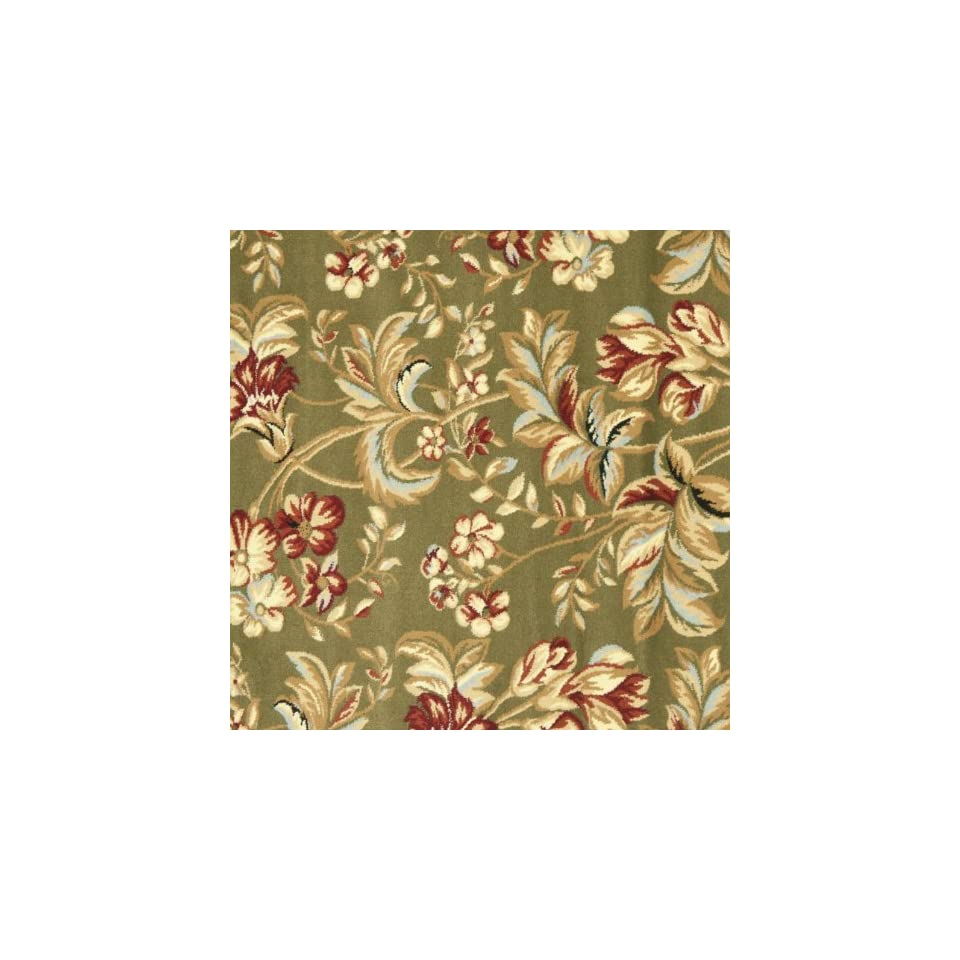 Safavieh Lyndhurst Collection LNH326B Traditional Floral Sage Square Area Rug (8 Square)