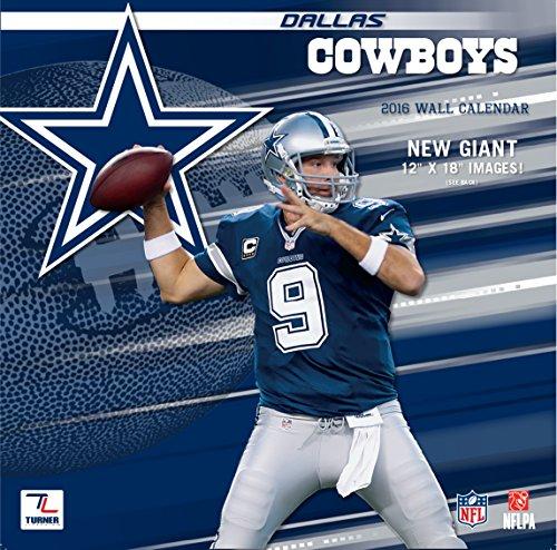 """Turner Dallas Cowboys 2016 Team Wall Calendar, September 2015 - December 2016, 12 x 12"""" (8011907)"""