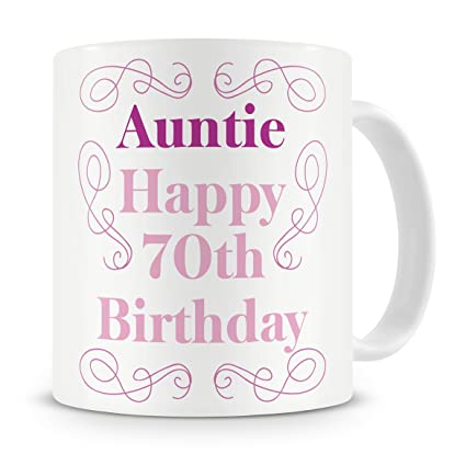 Auntie Happy 70th Birthday Mug