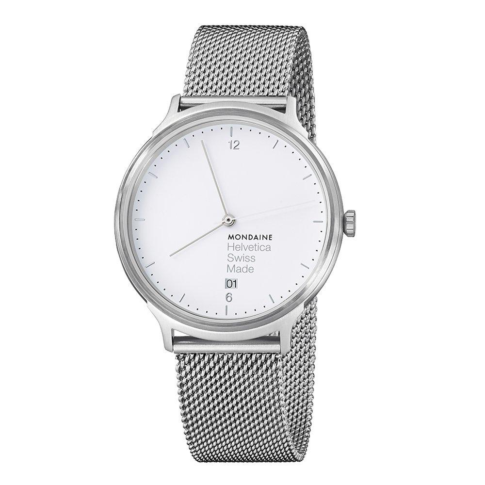 Mondaine Helvetica No1 Light 38mm MH1.L2210.SM Reloj de pulsera Cuarzo Unisex correa de Acero inoxidable Plateado: Amazon.es: Relojes