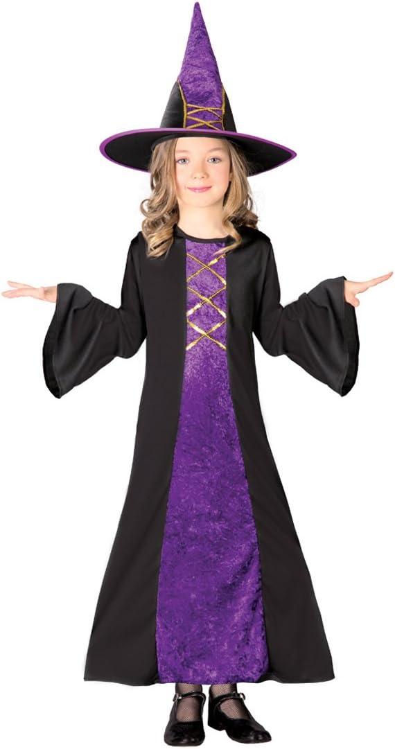 Süße Hexe Kostüm Zauberin Kinderkostüm Hexchen Ballerina Mädchenkostüm Magierin