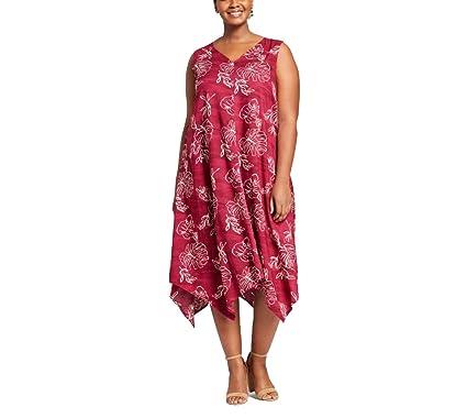 58dd24530e5 Ava   Viv Women s Plus Size Printed A Line Dress - Variety- (Multi Swirl