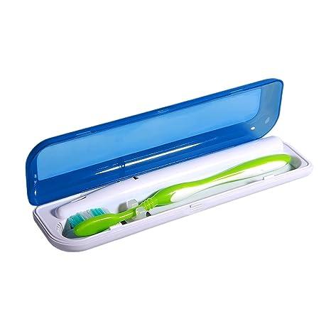 Portátil UV cepillo de dientes esterilizador, limpiador de las bacterias de matar funda para cepillo