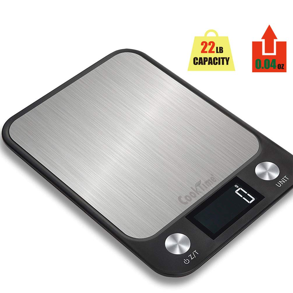 Digital Kitchen/Food Scale Grams and Ounces-Ultra Slim/Multifunction/Tare Function Kitchen Weight Scales-22lb/10kg Capacity,0.04oz/1g(Batteries Included)