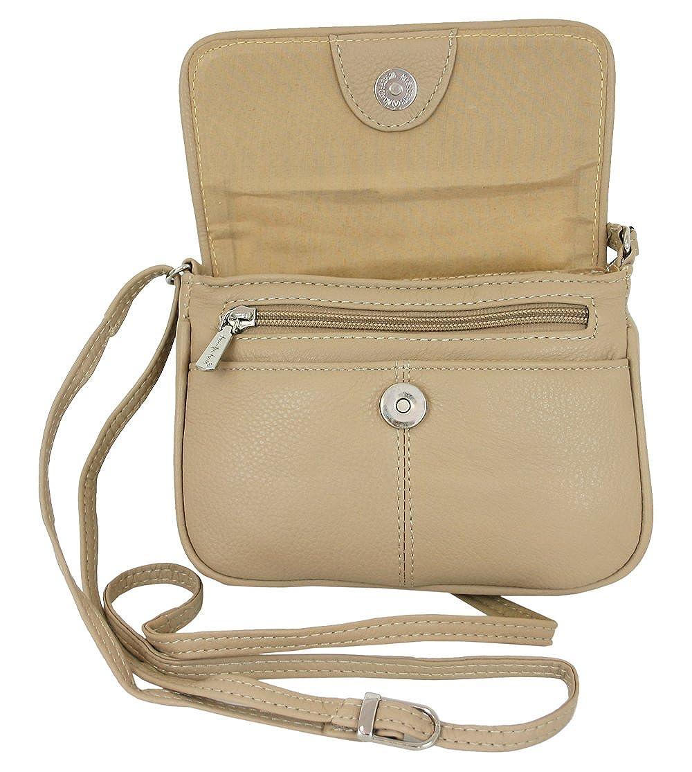 ae1447da8b866a Leder Damen Schultertasche Kleine Umhängetasche für Frauen Handtasche beige  auch crossbody bag kleine crossover Tasche (6223): Amazon.de: Bekleidung