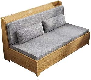 YB&GQ Indoor Outdoor Sunbrella Bench Cushion,Waterproof Not-Slip Settee Cushion,Thicken Patio Furniture Pad Wicker Loveseat Lounge Sofa Cushion Beige 120x60x8cm(47x24x3inch)