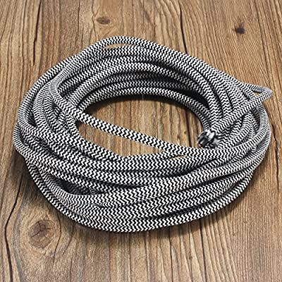 32.8ft Round 18/2 Rayon Covered Wire,HESSION Antique Industrial Electrical Cloth Cord,Vintage Style Lamp Cord strands UL listed