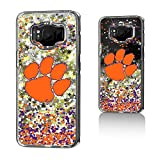 Keyscaper NCAA Clemson Tigers CU Confetti Glitter Case for Galaxy S8, Clear