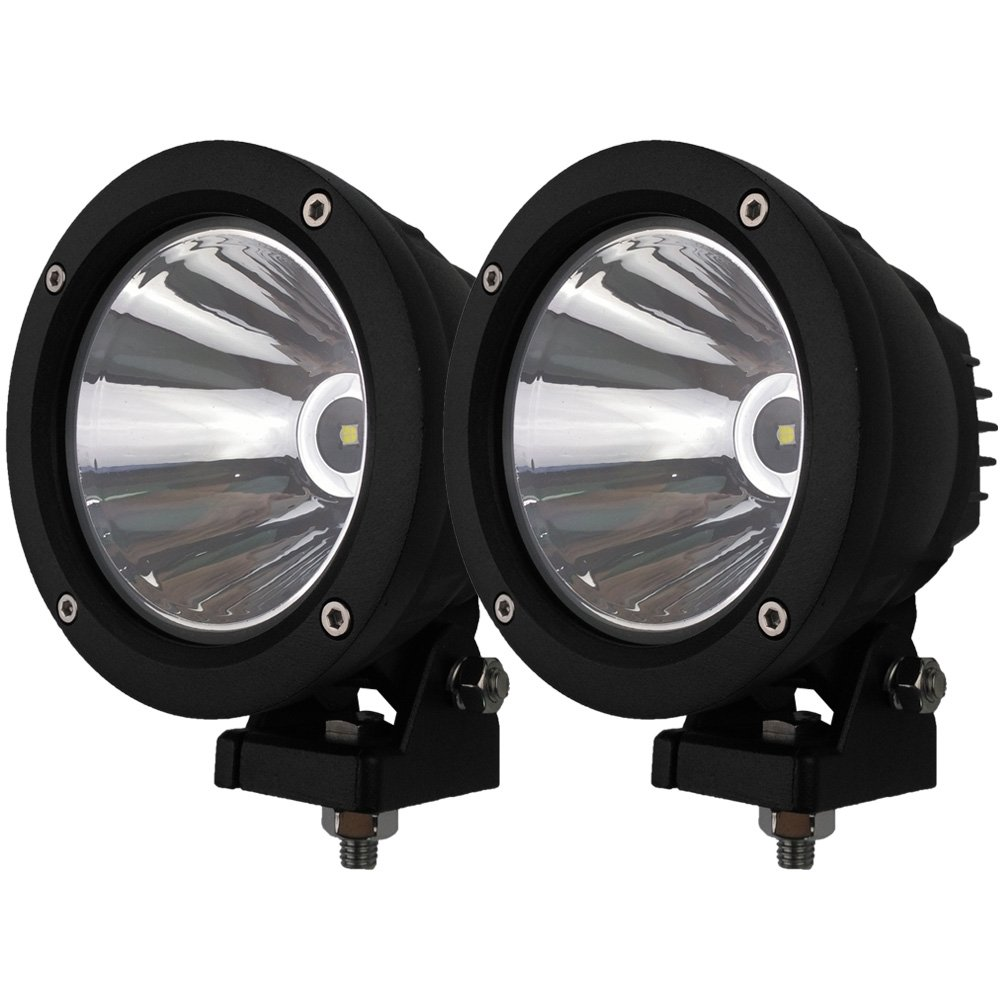Audak 2Pcs 25W Spot Beam Round LED Work Light Driving Lights Spotlights for Off Road 4x4 Pickup Truck chiming