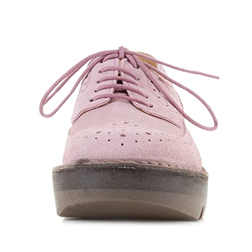 3c7ab21516a Fly London Womens Jane Suede Pink Brogue Fashion Wedge Heel Shoes Size 6   Amazon.co.uk  Shoes   Bags