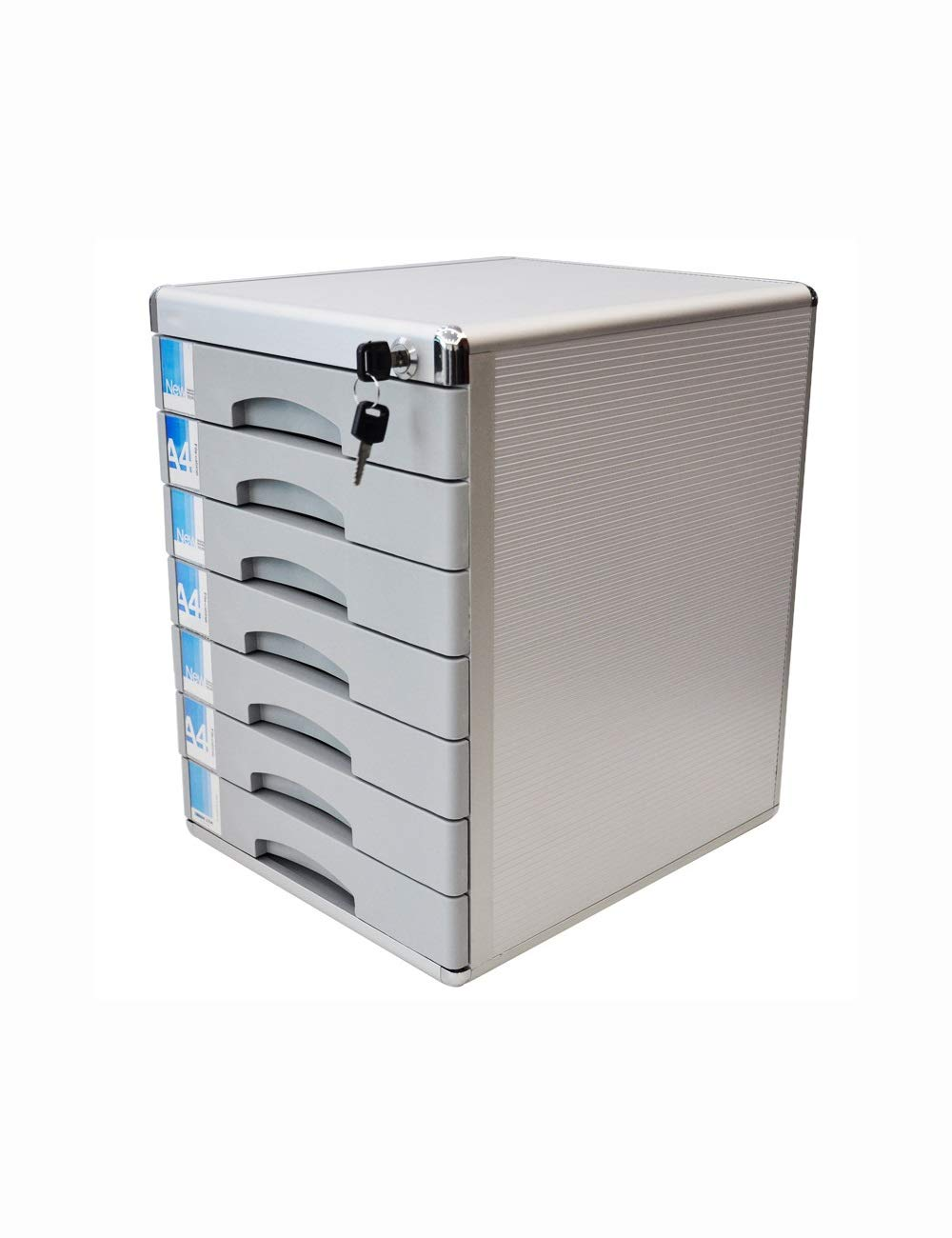 File Cabinets Desktop Cabinet 7 Drawers with Lock H400xW36xL30mm Aluminum Alloy Security Cabinet File Storage Cabinet