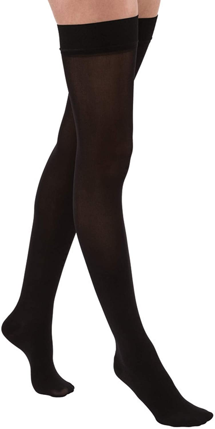 JOBST Relief Thigh High 15-20 mmHg Compression Stockings Medium Beige Closed Toe with Silicone Dot Band