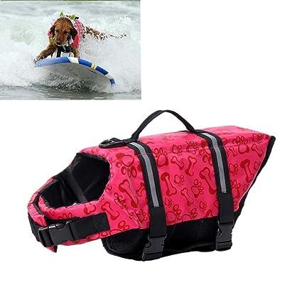 Bargain House perro chaqueta vida ajustable mango de rescate ...