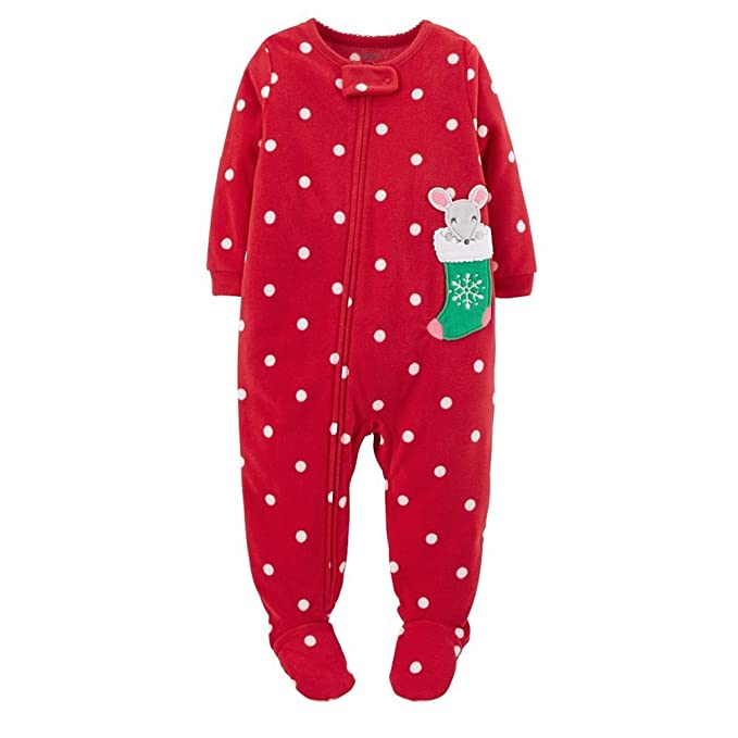 7c87c965f13d Amazon.com  Carter s Toddler Girls Microfleece 1 Pc. Footed Pajamas ...