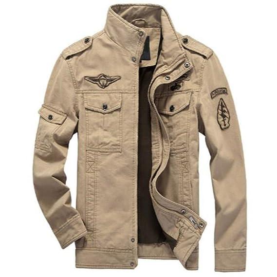 Newbestyle Printemps et Automne Veste Militaire Blousons Hommes Veste en  Coton Col Manteau Veste: Amazon.fr: Vêtements et accessoires