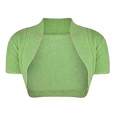 Cardigan Bolero Shrug Ladies Womens Girls Short Sleeve Size S M L Age 11-14 New