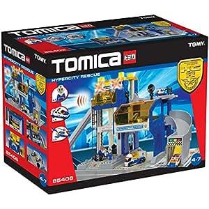 Tomy 85406 Tomica HCR - Cuartel de policía con helicóptero y coche policía