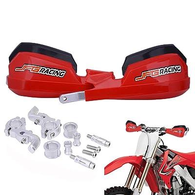 "Handguards Dirt Bike Hand Guards - Universal For 7/8"" And 1 1/8"" Handlebar - For Dirt Bike For Honda Yamaha Kawasaki Suzuki Motocross Enduro Supermoto(Red): Automotive"