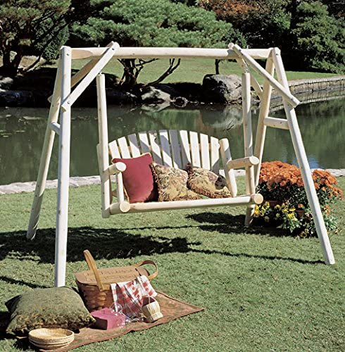 Rústico cedro 070026b 4 American Garden Swing – sólo estructura ...