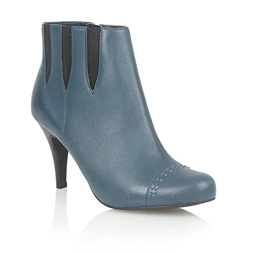 LOTUS Leather BEA Blue Ankle Boots, Chelsea Boots: Amazon.co