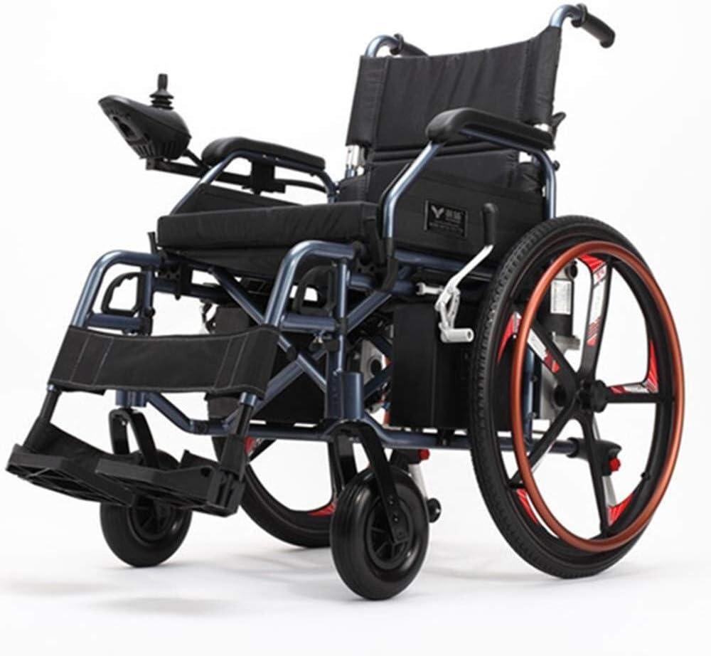 Sillas de ruedas for adultos, cómodo y seguro mecánico motorizado Vespa silla con Controlador Universal Inteligente de Tránsito for sillas de ruedas 15KM-20KM duración de la batería for los inválidos