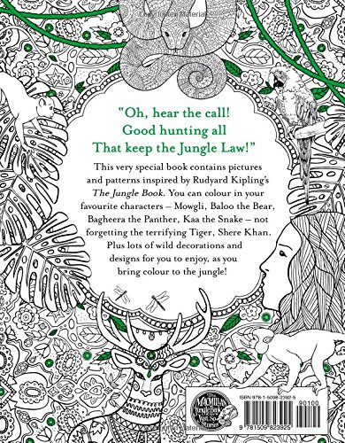 The Jungle Book Colouring Book Macmillan Classic Colouring Books