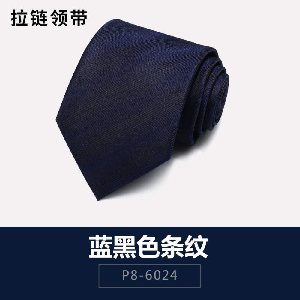 Corbata De Los Hombres,Arte De Rayas Negras Azules Material De ...