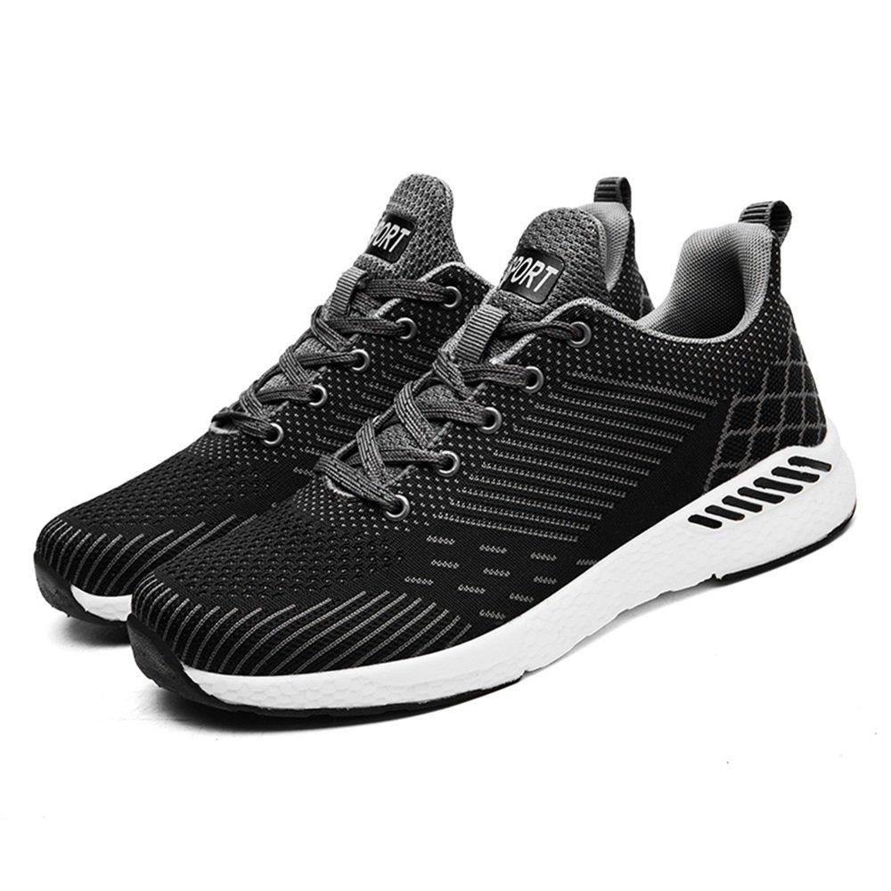 Shufang-scarpe, 2018 scarpe da ginnastica atletico da uomo Casual Casual Casual Style Summer Mesh Traspirante Tessuto volante Un paio di scarpe da ginnastica da corsa (Colore   Nero, Dimensione   48 EU) a1ac90