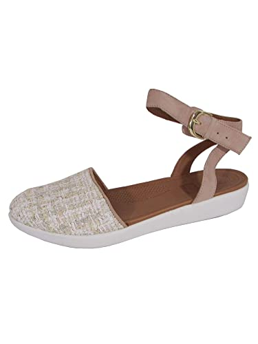cf21b2ad0 Amazon.com | FitFlop Womens Cova Closed Toe Luxe Tweed Sandal Shoes, Dusky  Pink, US 11 | Sandals