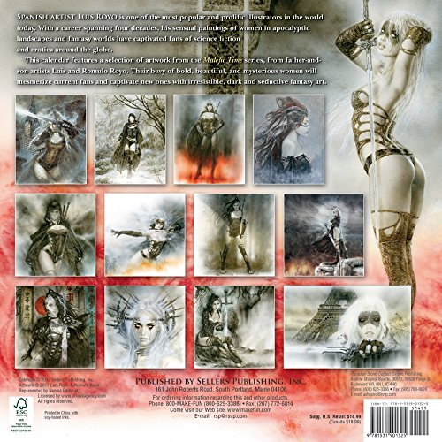 Fantasy Art of Luis Royo 2018 Wall Calendar Photo #2