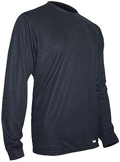 product image for Polarmax Tech Silk Crew Shirt, Black, Medium