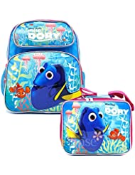 Finding Dory School Backpack Medium 12 Girls Nemo Book Bag With Lunch Bag Set