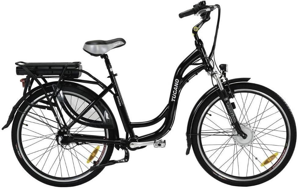 STRADA - La bicicleta eléctrica urbana sin cadena - Motor 250W 8Fun - Batería Panasonic 36V con selector de potencia - Freno V-Brake Promax - Transmisión del eje cardán: Amazon.es: Deportes y aire libre