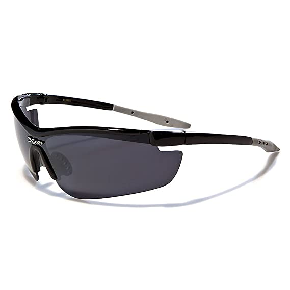 909ece76c14 Mirozi Men s Semi-Rimless Wrap around Sports Sunglasses Colored Lens   Frame  (Black  Amazon.in  Clothing   Accessories