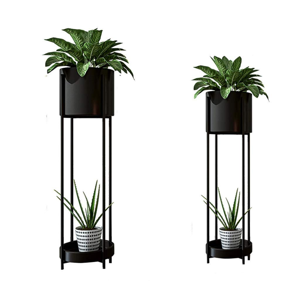85cm×23cm Wrought Iron Metal Plant Pot Display Stand, Practical Shelving Unit Storage Rack, Multi-Function Indoor Outdoor Courtyard Balcony Decorative Frame (Size   85cm×23cm)