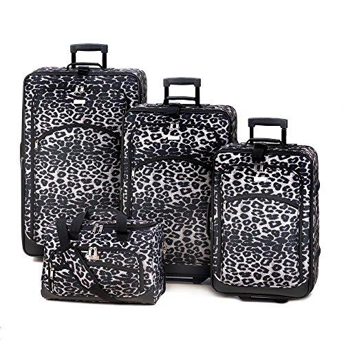 Koehler 15244 Decorative Snow Leopard Luggage Set